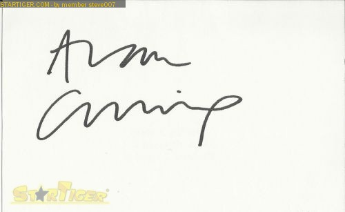 Alan Cumming autograph collection entry at StarTiger