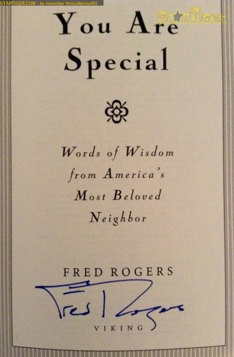 Fred Rogers Autograph Collection Entry At Startiger
