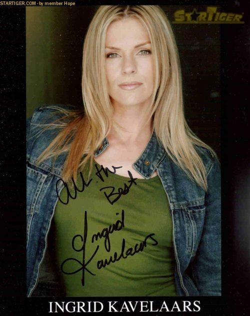 Ingrid Kavelaars autograph collection entry at StarTiger